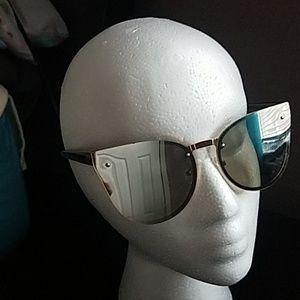 New York & Company Mirrored Cat Eye Sunglasses